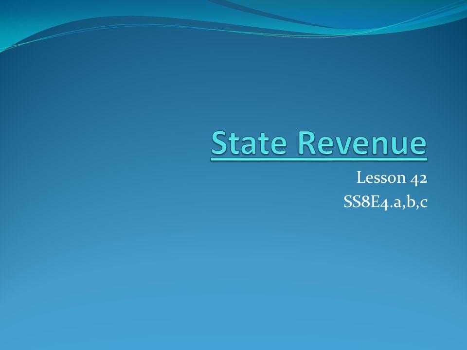 State Revenue Lesson 42 SS8E4.a,b,c