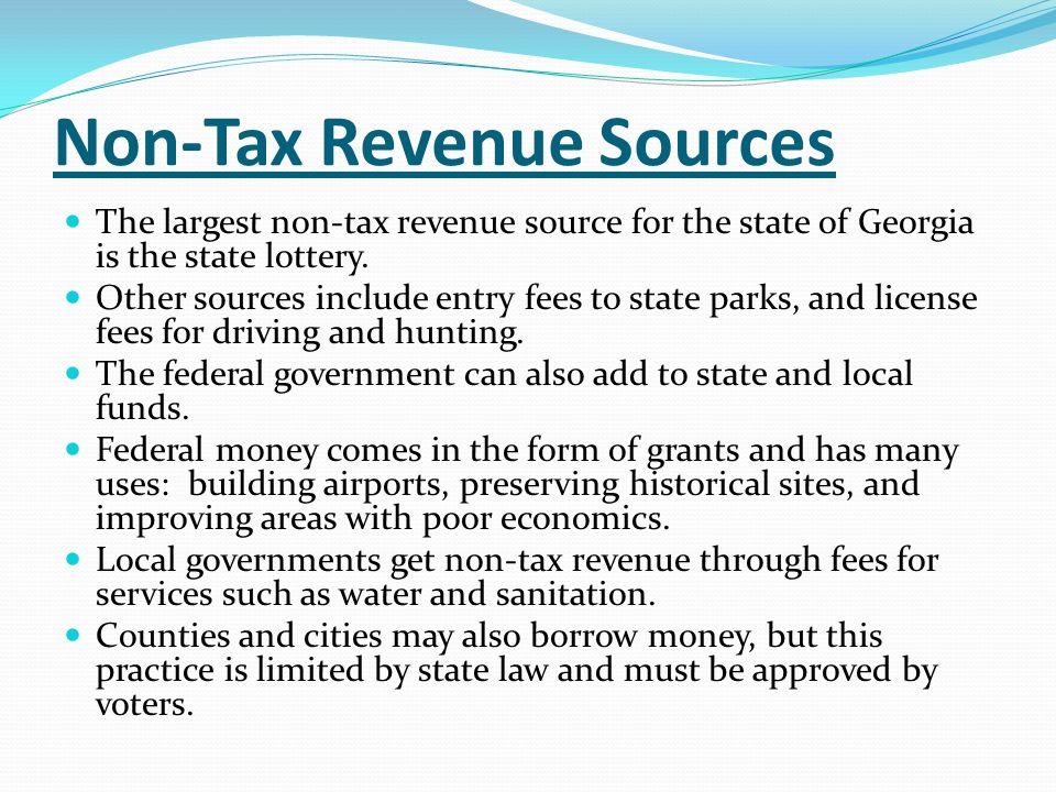 Non-Tax Revenue Sources
