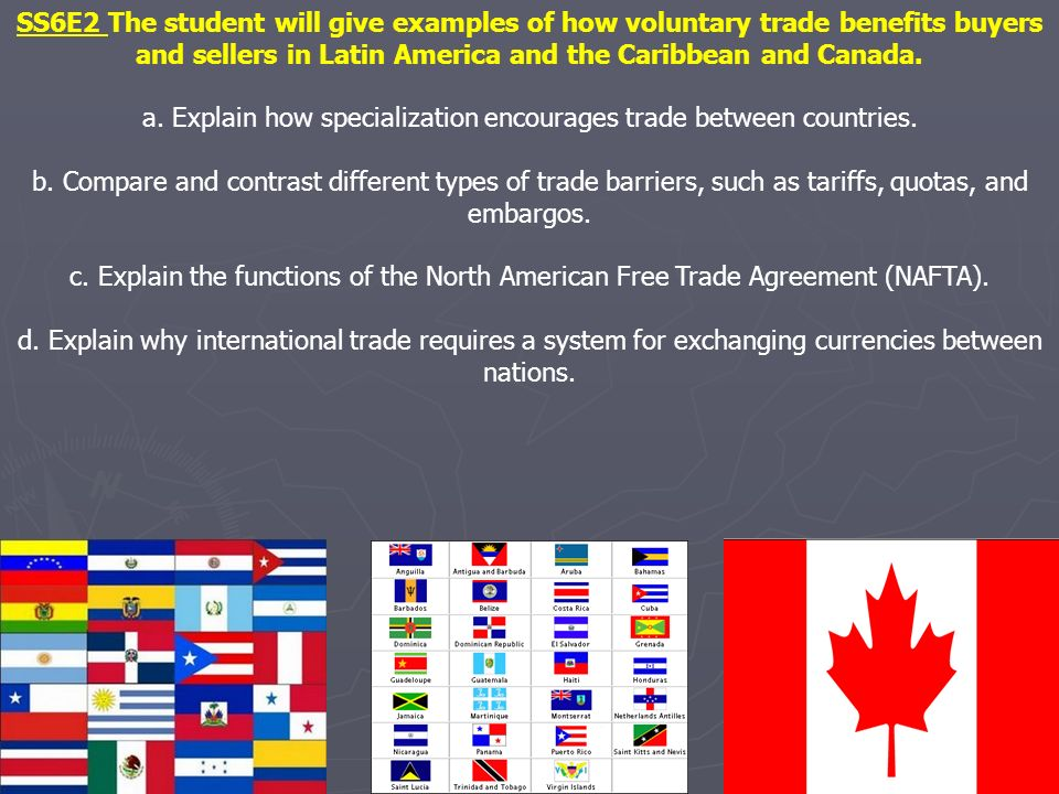a. Explain how specialization encourages trade between countries.