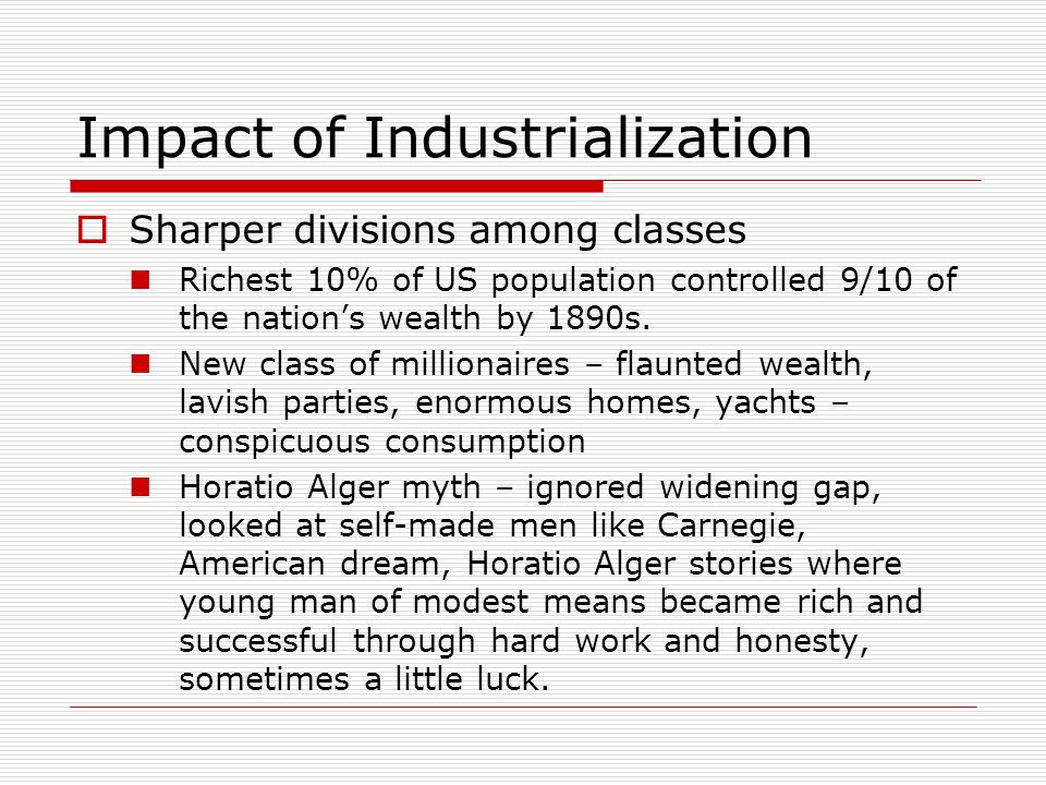 Impact of Industrialization