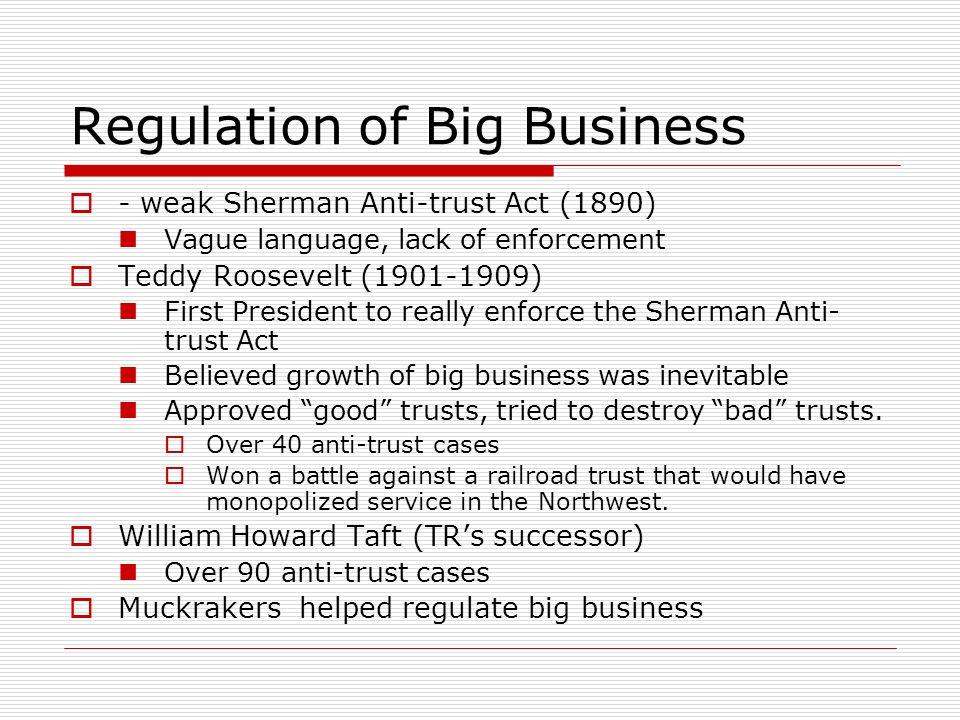 Regulation of Big Business