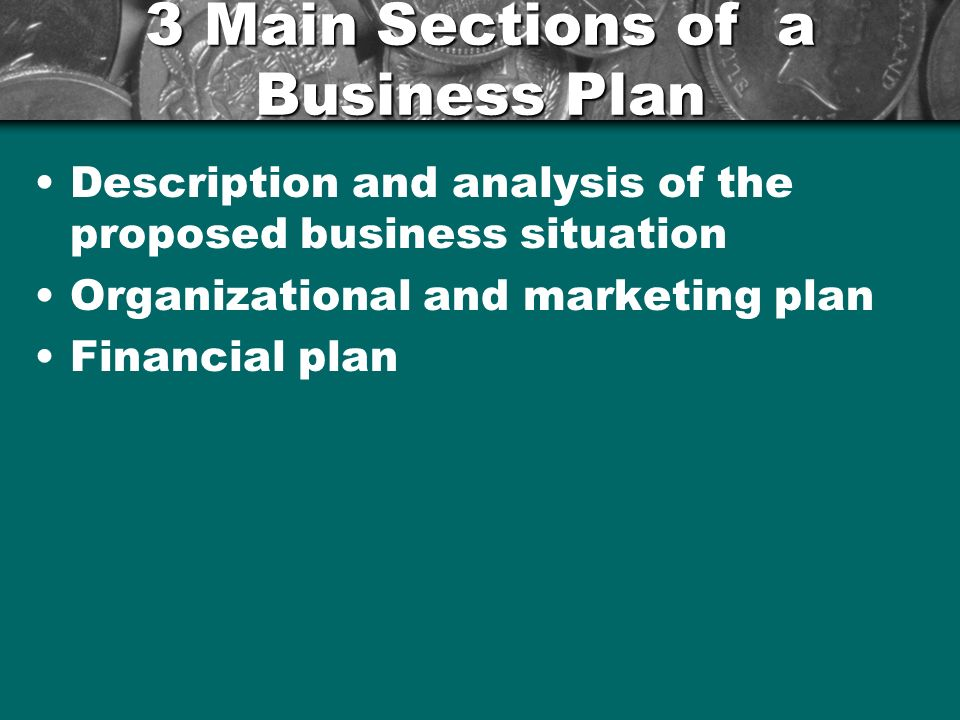 3 Main Sections of a Business Plan