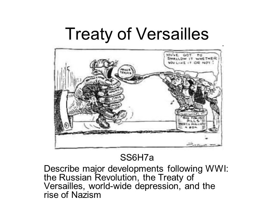 Treaty of Versailles SS6H7a