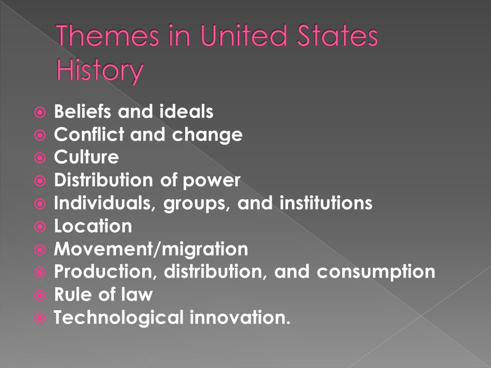 Themes in United States History
