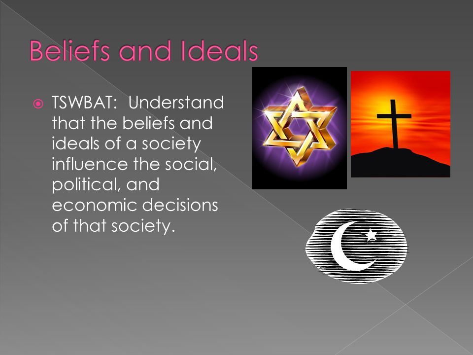 Beliefs and Ideals