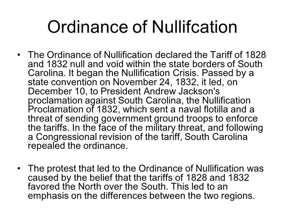 Ordinance of Nullifcation