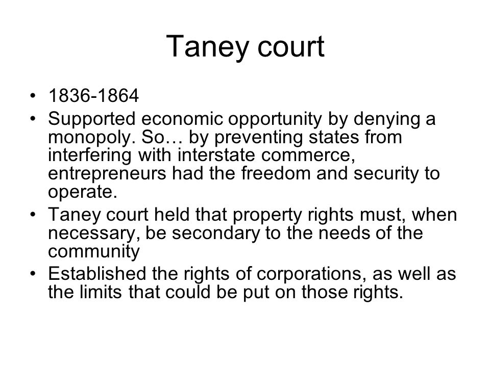 Taney court 1836-1864.