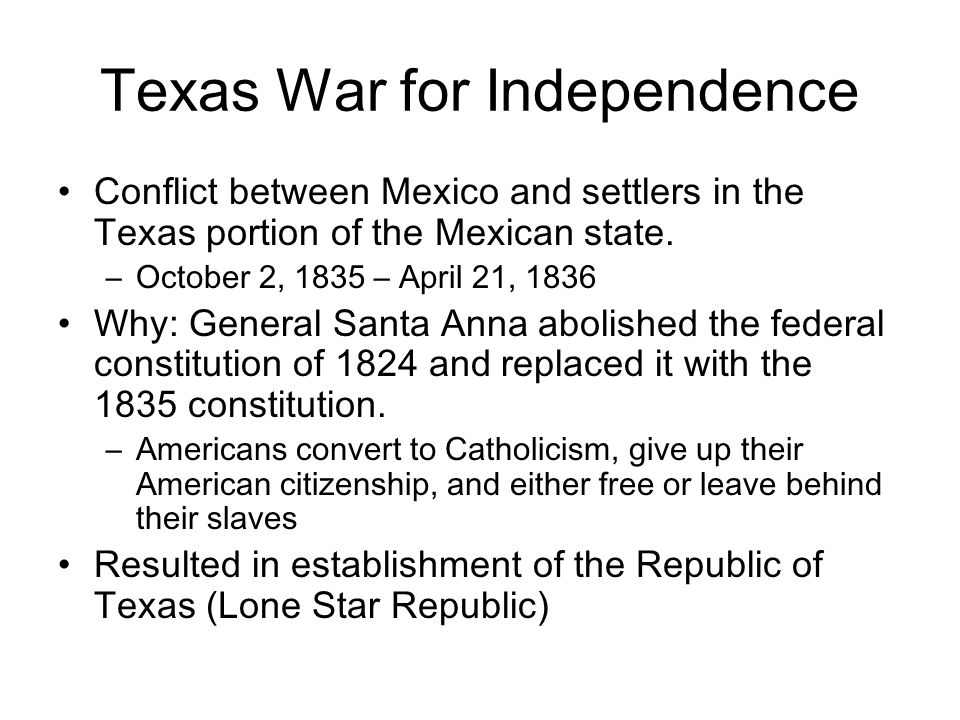 Texas War for Independence