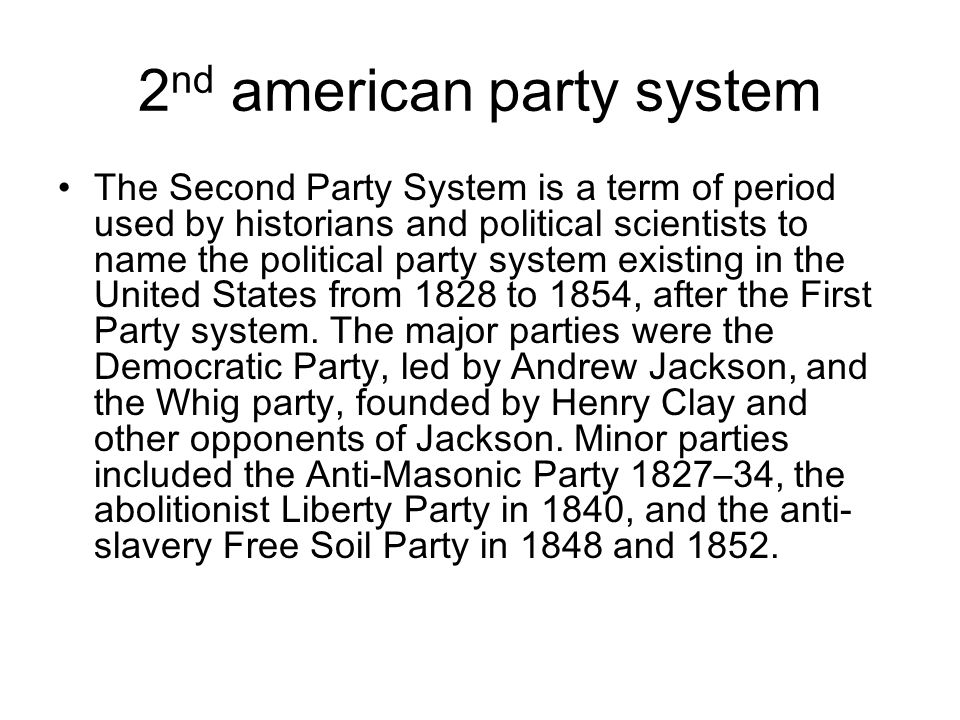 2nd american party system