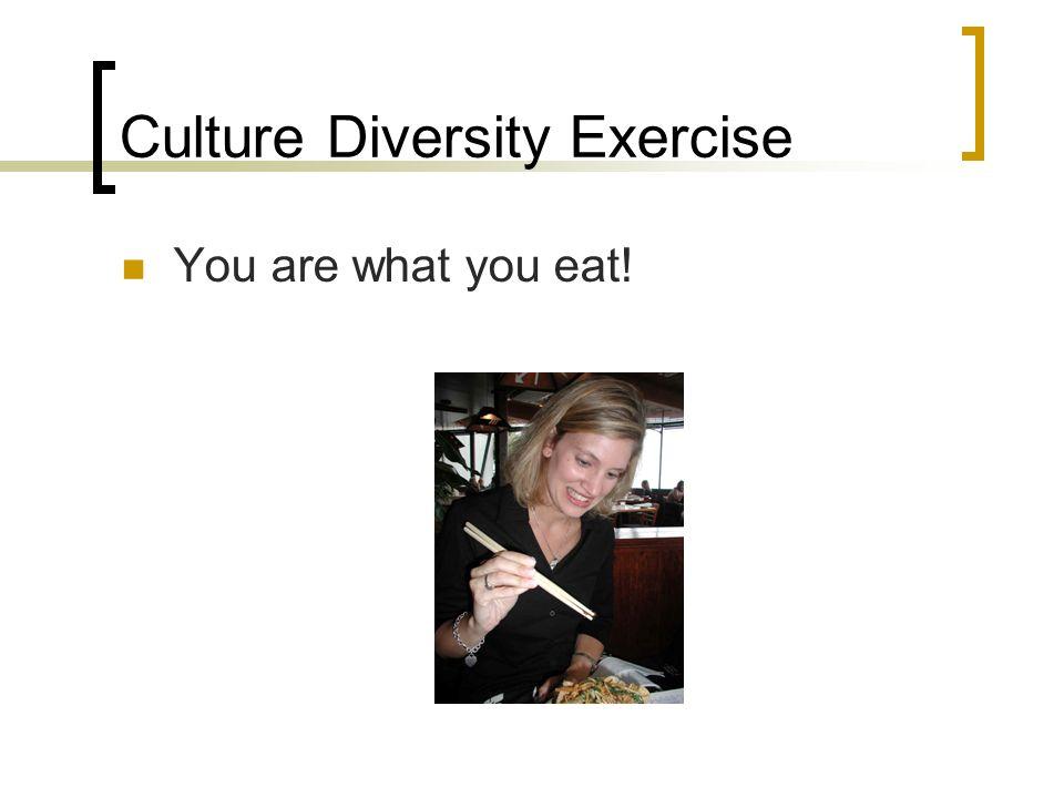 Culture Diversity Exercise