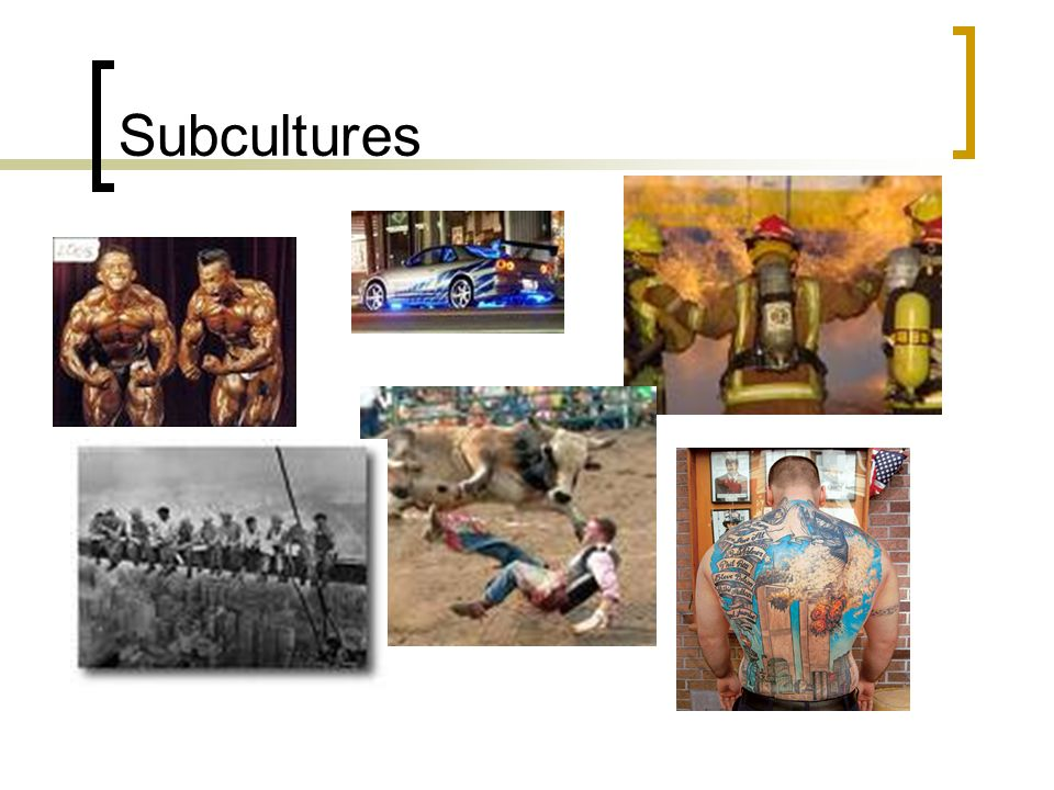 Subcultures k