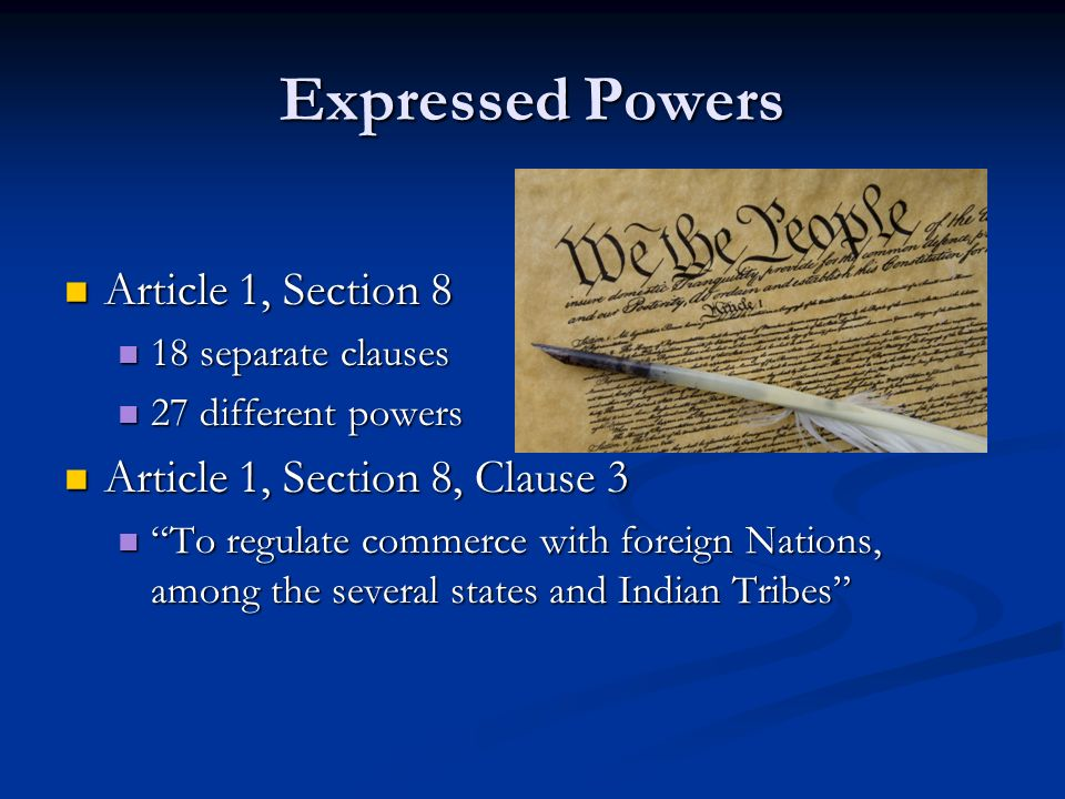 The Expressed Powers Chapter 11 Section ppt download