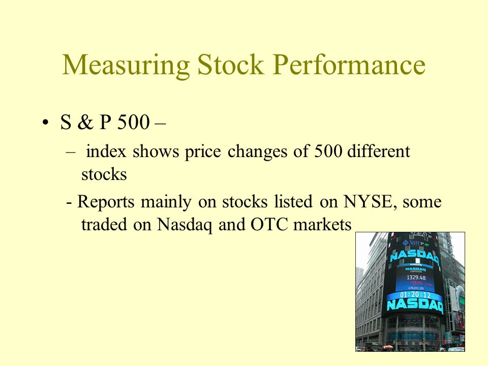 Measuring Stock Performance
