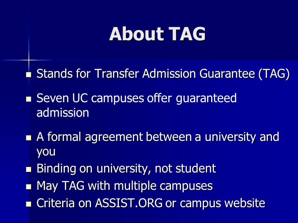 Transfer tagtap programs scc transfer center 714 room d 104n about tag stands for transfer admission guarantee tag platinumwayz