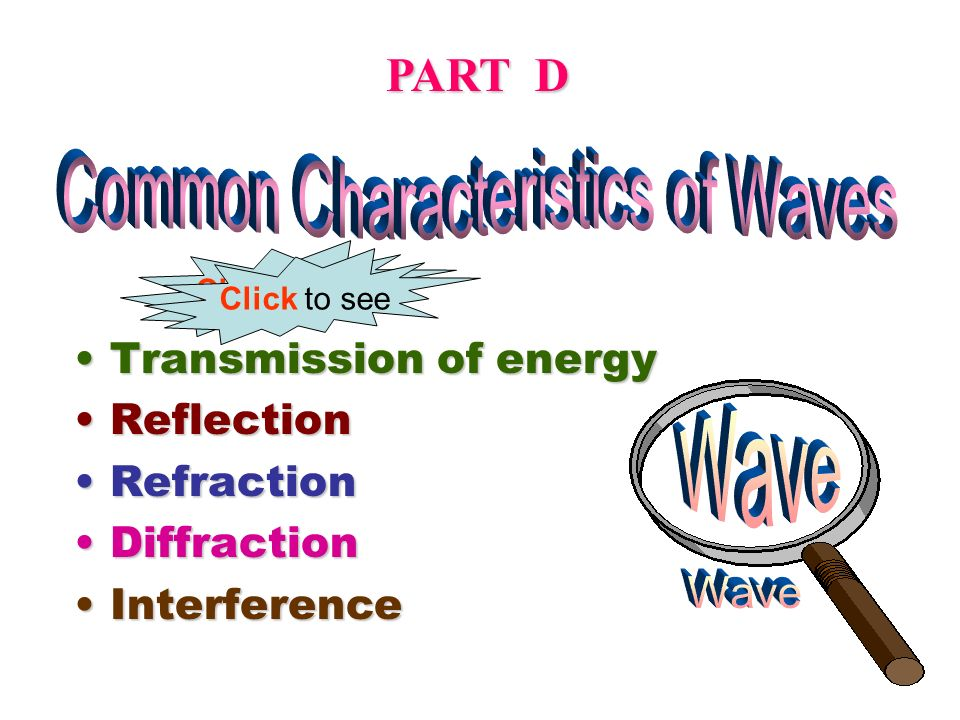 Common Characteristics of Waves