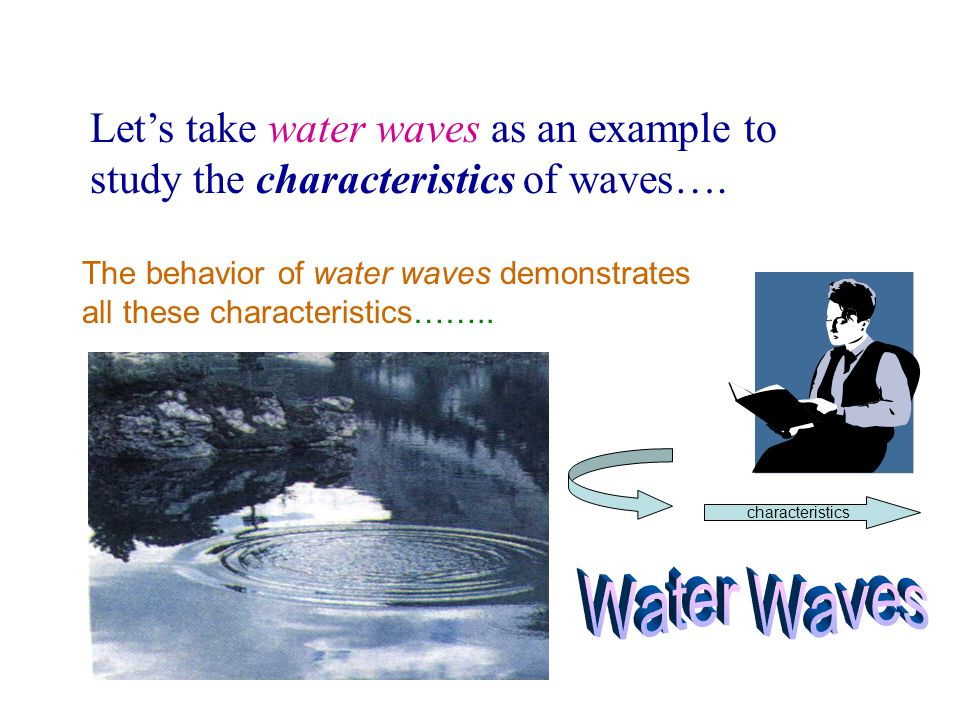 Let's take water waves as an example to study the characteristics of waves….