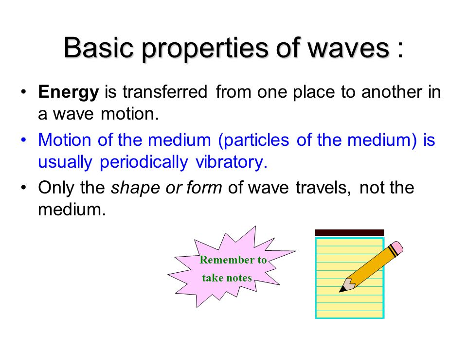 Basic properties of waves :