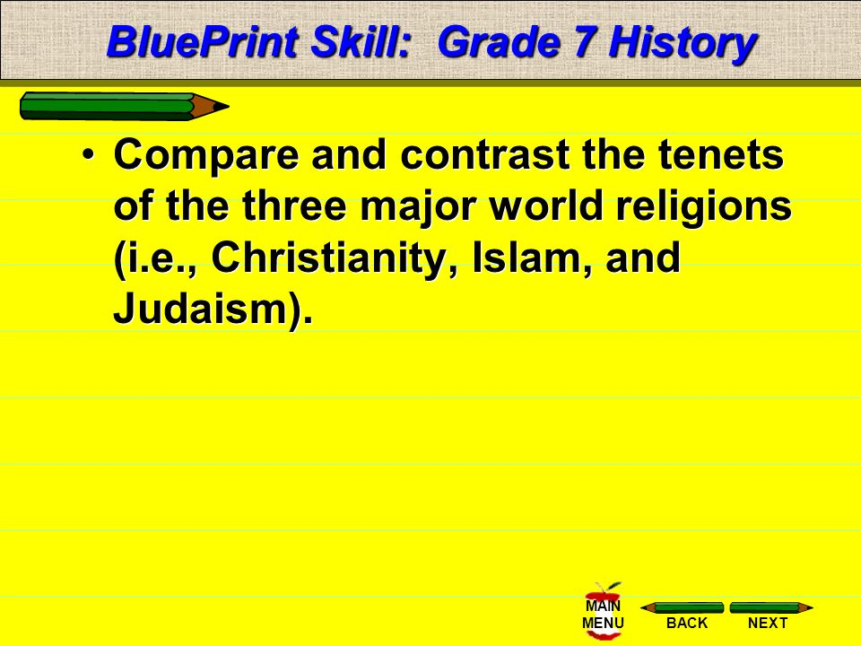 a comparison of three great world religions in judaism christianity and islam Judaism is one of the three major religions in our society today along with islam and christianity judaism believes there is only one god who created and presides over the world their god is all powerful, all knowing and is in all places at all times.