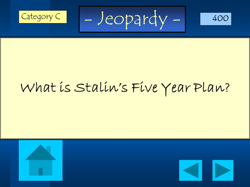 What is Stalin's Five Year Plan