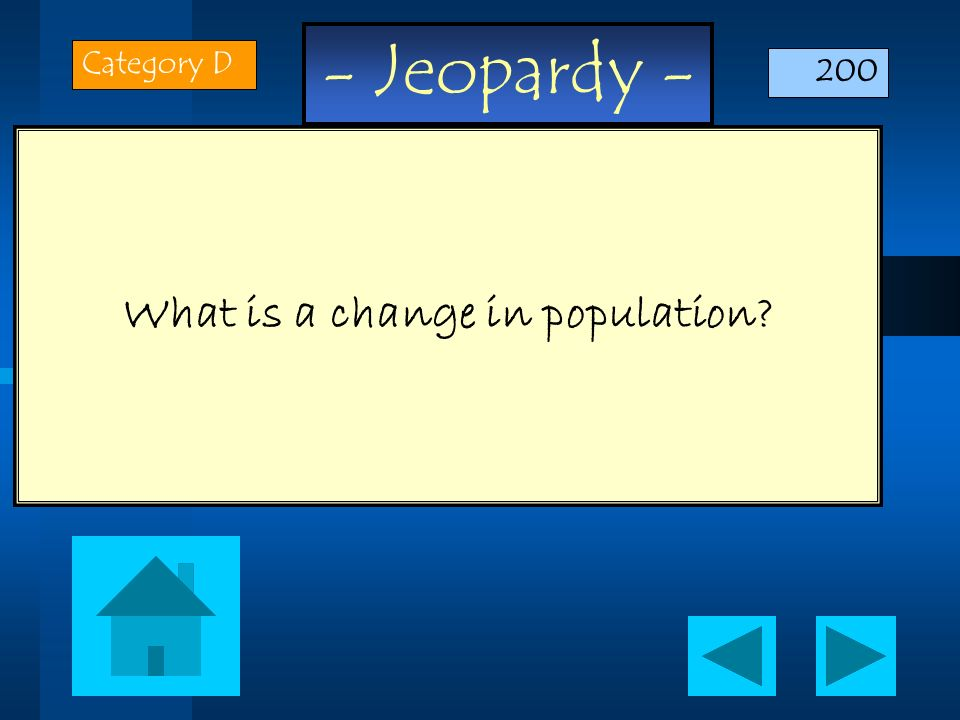 What is a change in population