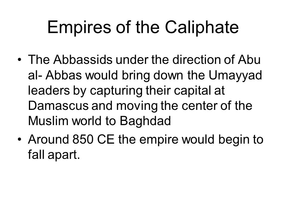Empires of the Caliphate