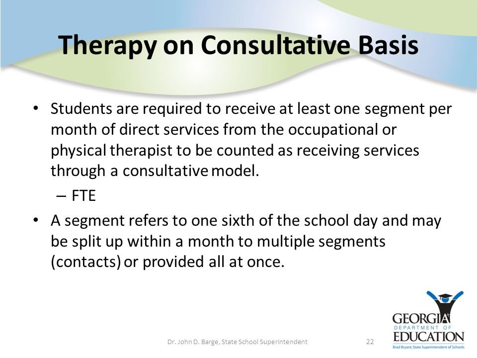 Therapy on Consultative Basis