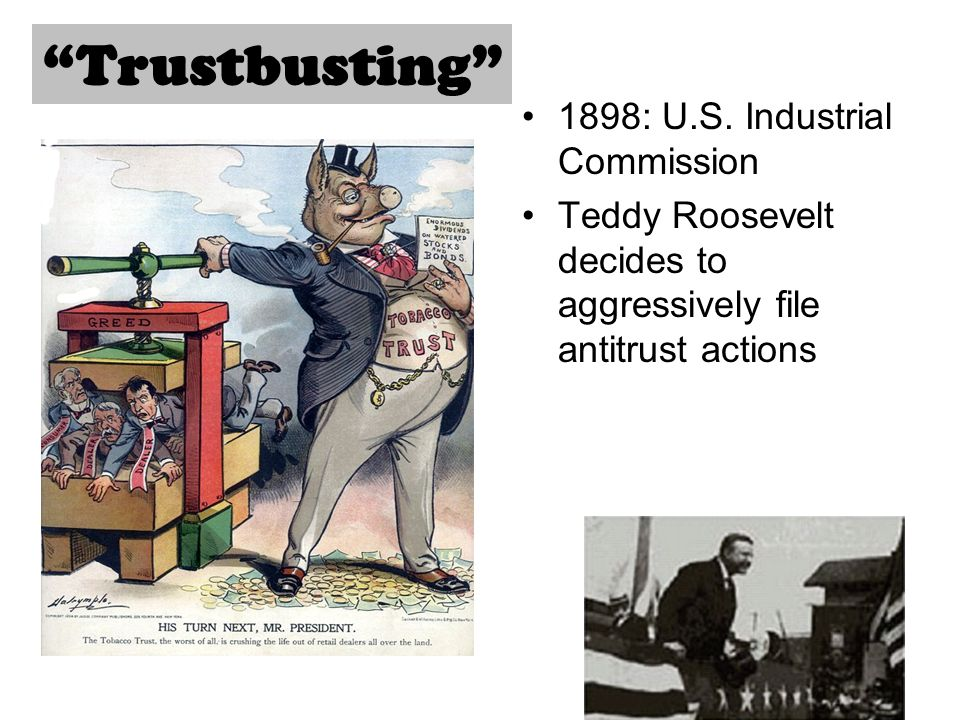 Trustbusting 1898: U.S. Industrial Commission