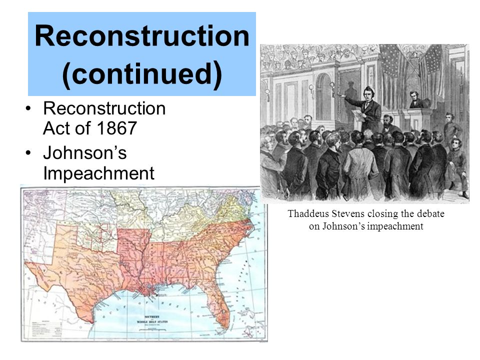 Reconstruction (continued)