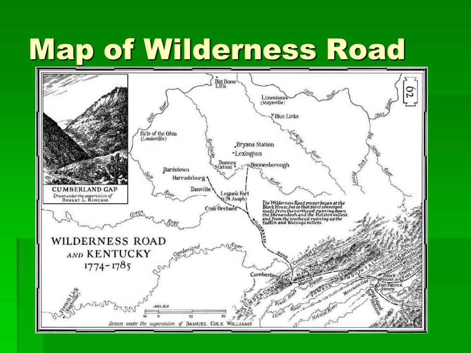 Map of Wilderness Road