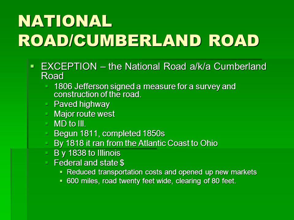 NATIONAL ROAD/CUMBERLAND ROAD