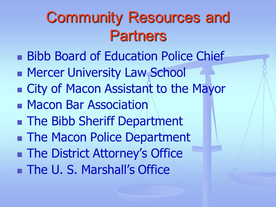 Community Resources and Partners