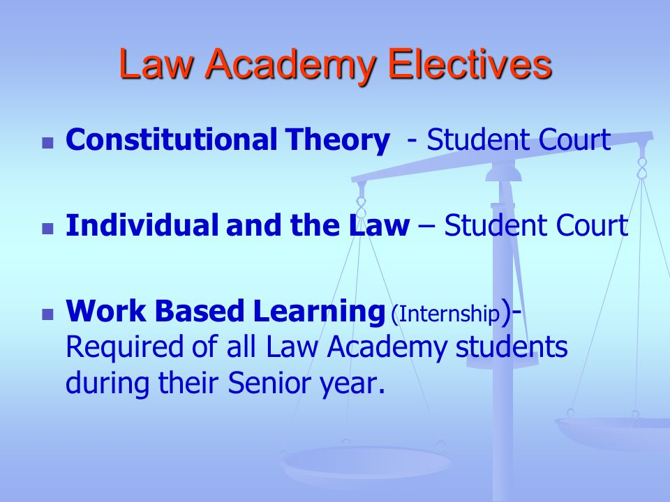 Law Academy Electives Constitutional Theory - Student Court