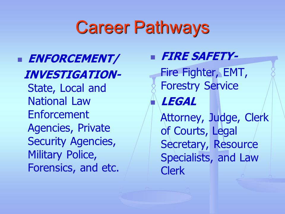 Career Pathways FIRE SAFETY- ENFORCEMENT/