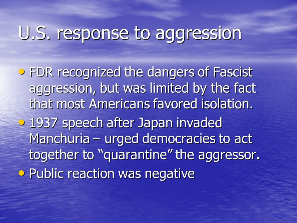 U.S. response to aggression