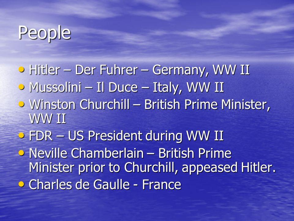 People Hitler – Der Fuhrer – Germany, WW II