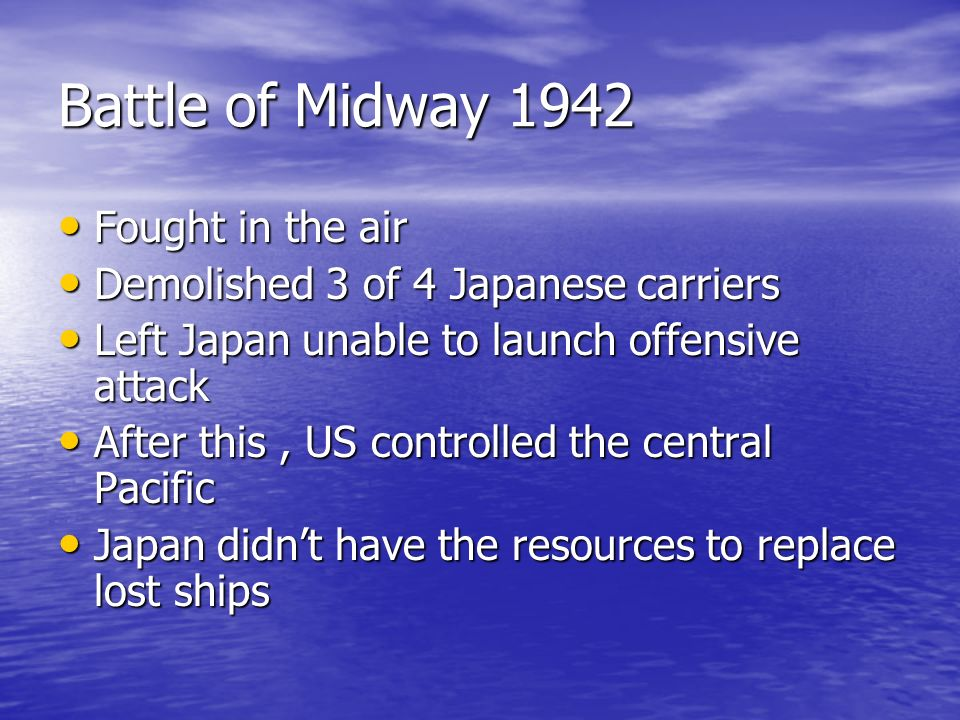 Battle of Midway 1942 Fought in the air
