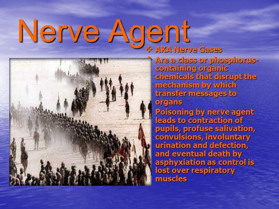 Nerve Agent AKA Nerve Gases