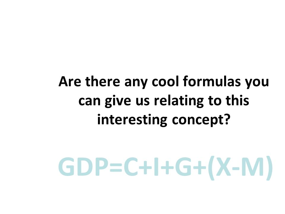 Are there any cool formulas you can give us relating to this interesting concept