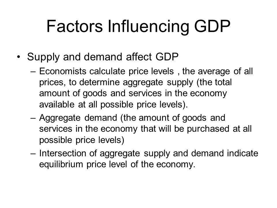 Factors Influencing GDP