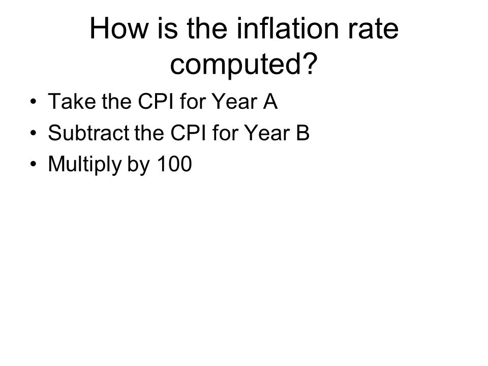 How is the inflation rate computed