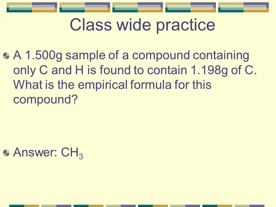 Class wide practice
