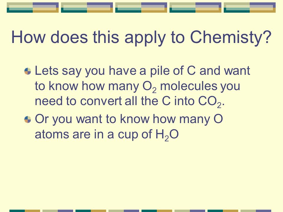 How does this apply to Chemisty