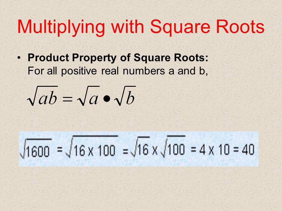 Multiplying with Square Roots