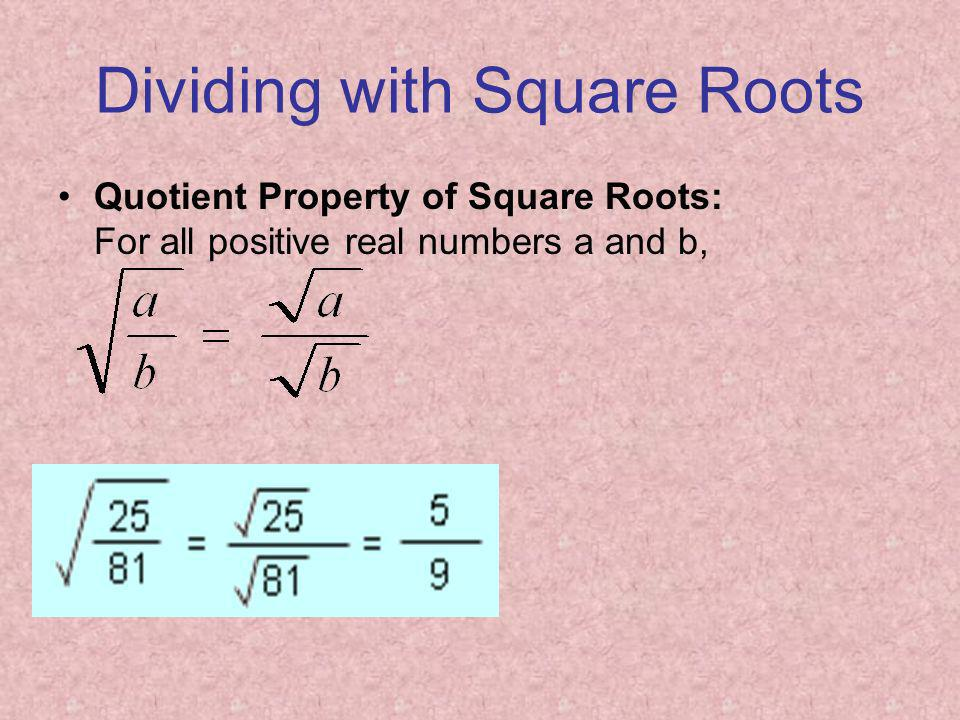 Dividing with Square Roots