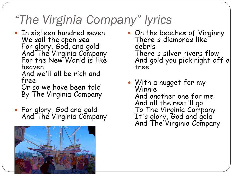 The Virginia Company lyrics