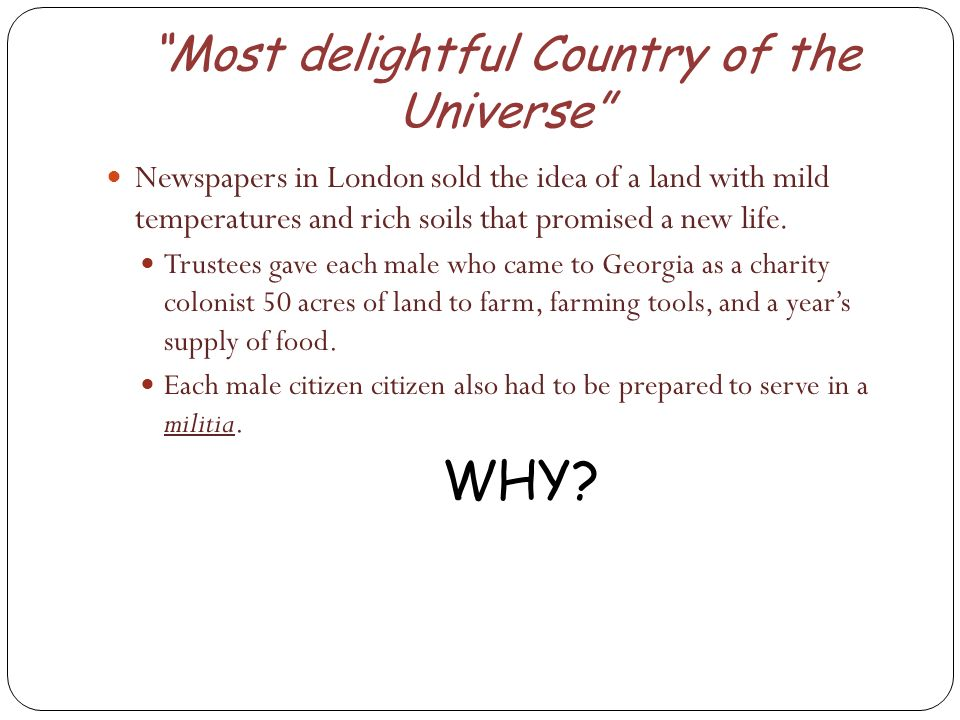 Most delightful Country of the Universe