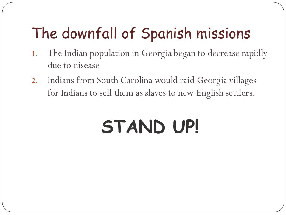 The downfall of Spanish missions