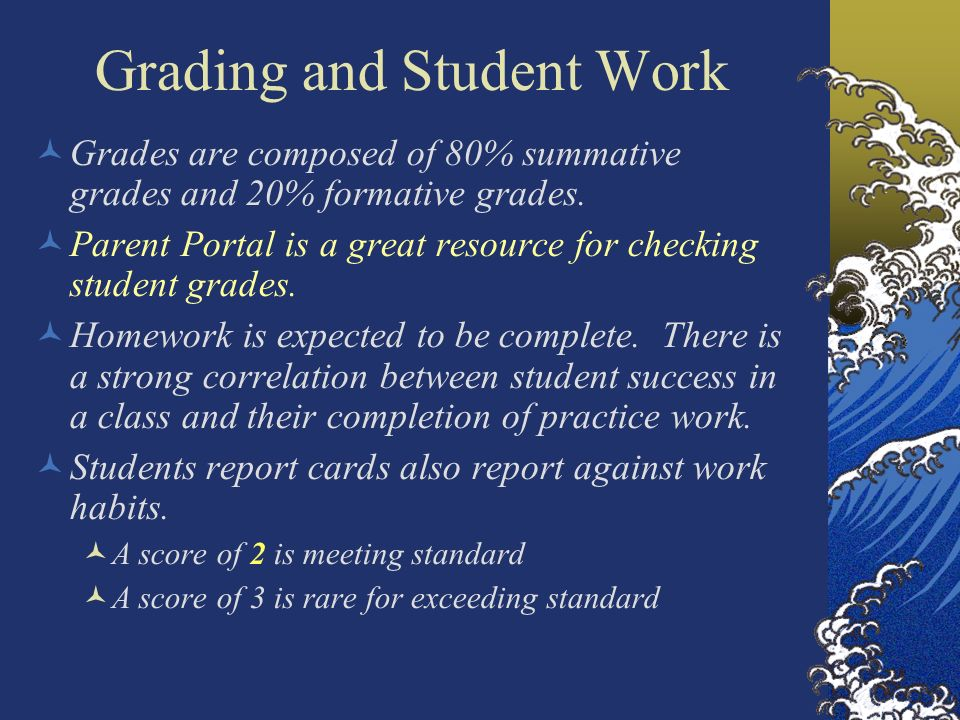 Grading and Student Work