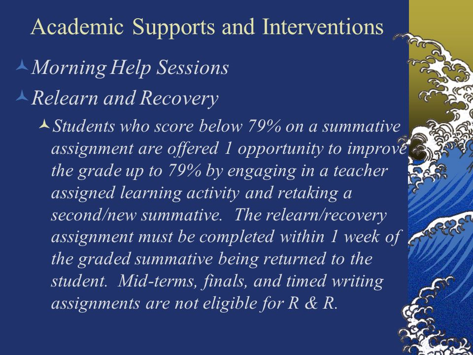 Academic Supports and Interventions