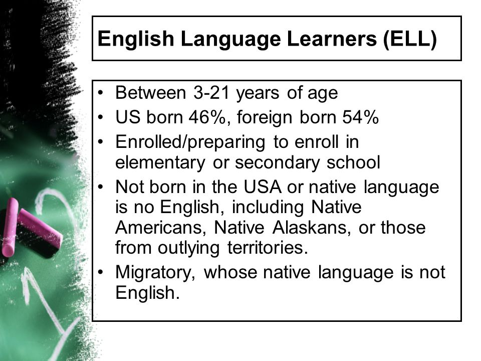 English Language Learners (ELL)